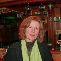 Debra at an Irish pub