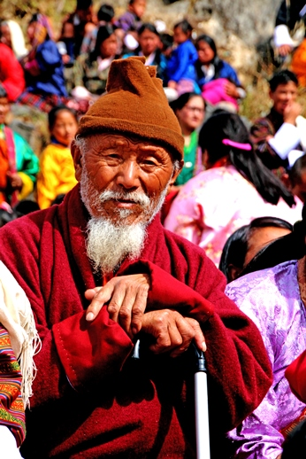 A Bhutanese Man at a Celebration