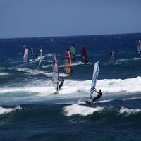 Windsurfing at Ho'okipa Beach